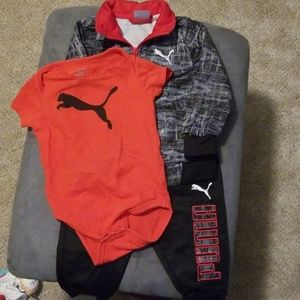 Euc Puma track suit with matching onsie